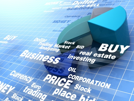 investing: abstract 3d illustration of business background Stock Photo