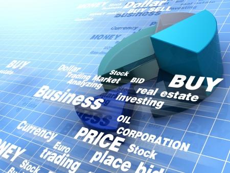 handel: abstrakt 3d abbildung von Betriebswirtschaftlicher Hintergrund Lizenzfreie Bilder
