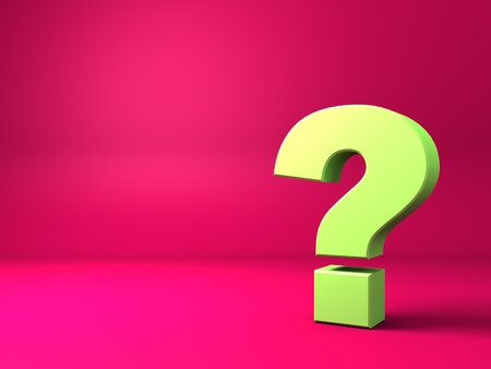 vibrance: abstract 3d background with question mark
