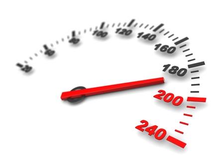 speedometer: illustrazione 3d astratto della velocit� di pericolo Archivio Fotografico