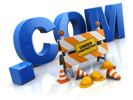 3d illustration of internet site under construction concept Stock Illustration - 9518830