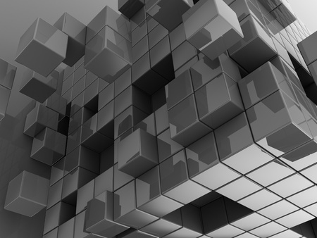 3d illustration of abstract cubes illustration