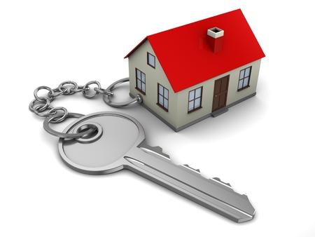 logements: R�sum� illustration 3d de concept-cl� chez