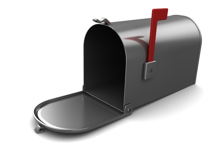 3d illustration of generic mailbox, over white background