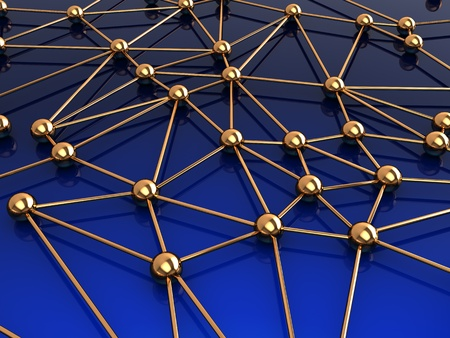 abstract 3d illustration of network structure illustration
