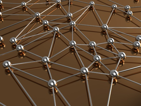 neural: 3d illustration of network or molecular structure Stock Photo