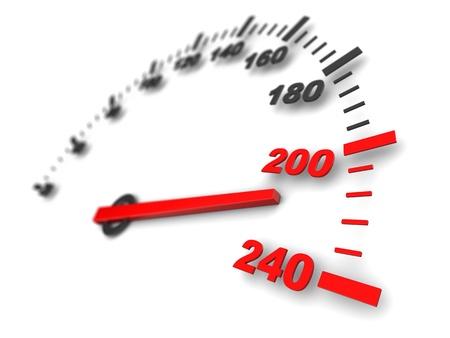 compteur de vitesse: illustration 3D du compteur de vitesse, rapide