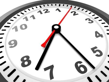 abstract 3d illustration of clock closeup illustration