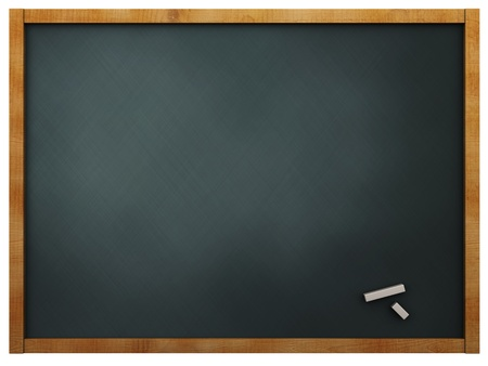 3d illustration of empty chalkboard background