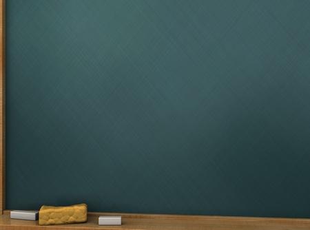 3d illustration of school chalkboard background, closeup Stock Illustration - 10490016
