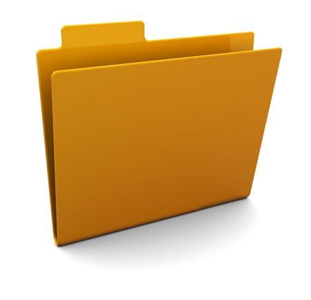 3d illustration of empty folder over white background illustration