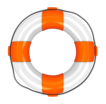 life preserver: 3d illustration of rescue circle isolated Stock Photo