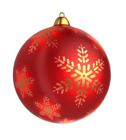 3d ball: 3d illustration of christmas ball, isolated over white