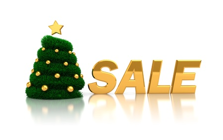 abstract 3d illustration of christmas sale sign Stock Illustration - 11413740