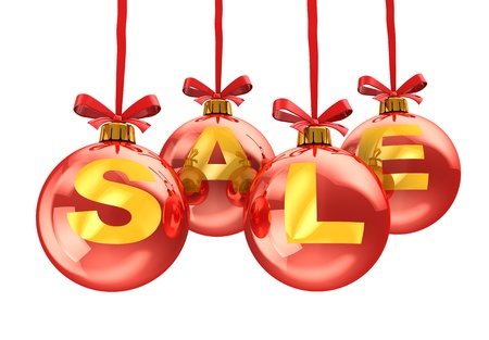 3d illustration of christmas sale sign, isolated over white background Stock Illustration - 11413786
