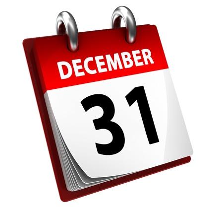 kalender: 31. Dezember Kalender Lizenzfreie Bilder