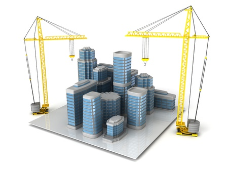 3d illustration of city building and design concept Stock Illustration - 12752622