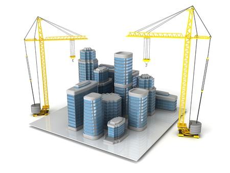 3d illustration of city building and design concept illustration