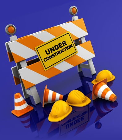 3d illustration of under construction sign illustration