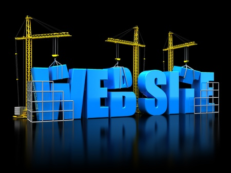 3d illustration of web construction concept illustration