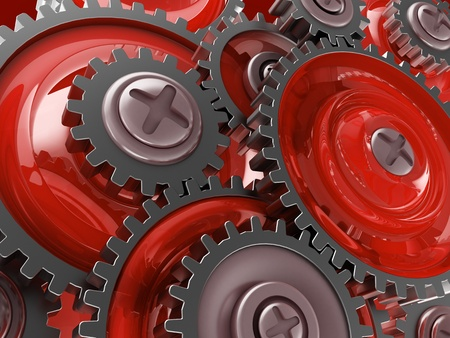 abstract 3d illustration of gear wheels background illustration