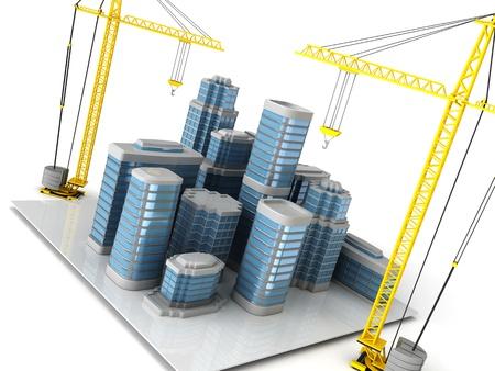 3d illustration of city building concept Stock Illustration - 12752697