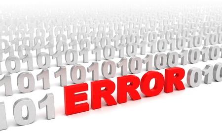 3d illustration of error in code consept illustration