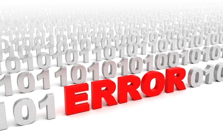 3d illustration of error in code consept Stock Photo