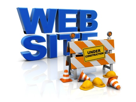 under construction: 3d illustration of web site construction concept Stock Photo