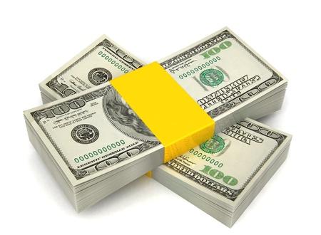 3d illustration of money stack over white background Stock Illustration - 12942561