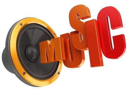 woofer: 3d illustration of electronic music symbol