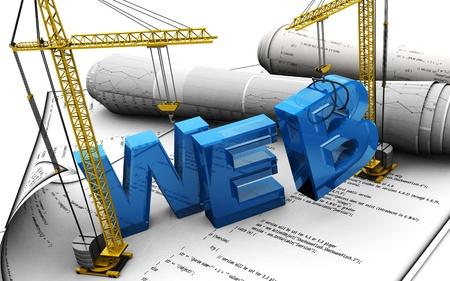 3d ilustración del concepto de diseño web Foto de archivo