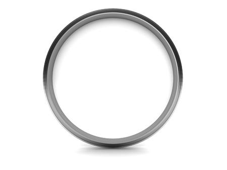 Grey circle, empty car speedometer photo