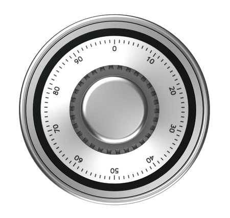 Safe dial with code isolated on a white background photo