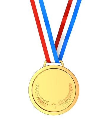 Golden medal -  first place sport champion photo