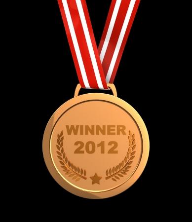 Winner trophy - golden champion  medal 2012 photo