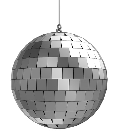70s: 3d of mirrorball   isolated on a white background Stock Photo