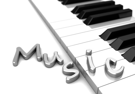 melodious: Modern piano with text music over keys