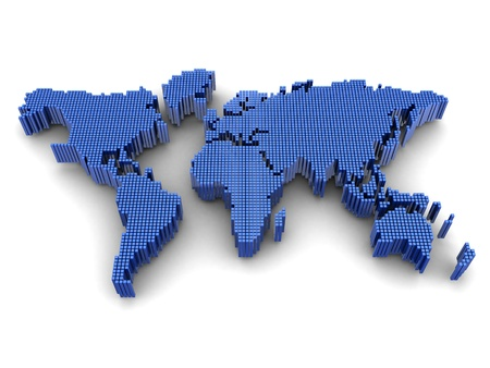 world communication: Digital worldwide map, geography subject Stock Photo