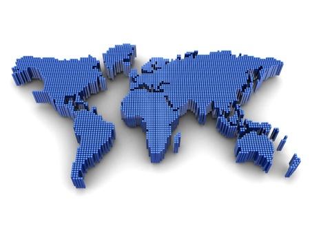 soumis: Num�rique dans le monde entier carte, sous r�serve de la g�ographie Banque d'images