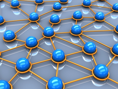 3d network concept, balls connection with each other Stock Photo - 16290959
