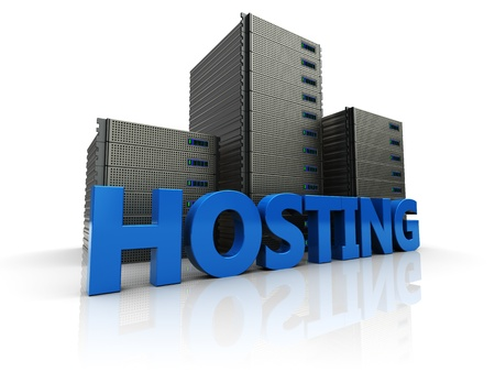 3d image, new hosting over white background Stock Photo - 16290938