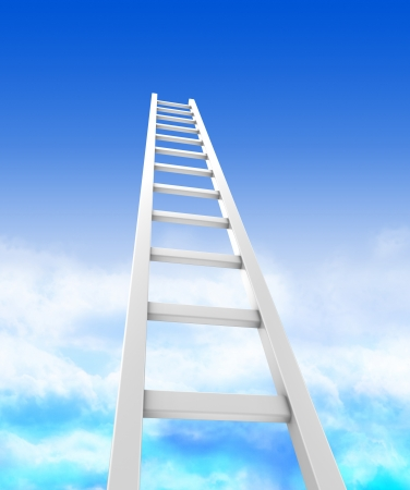 steps to success: Stair ladders over sky, concept success