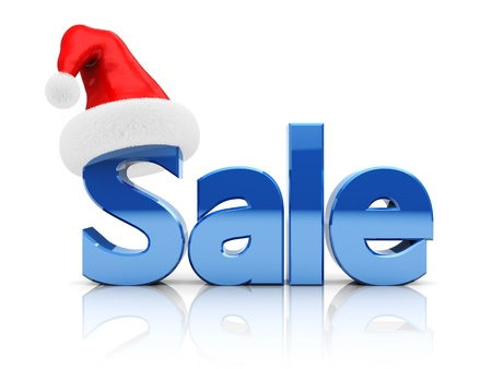 3d illustration of christmas sale sign, over white background illustration