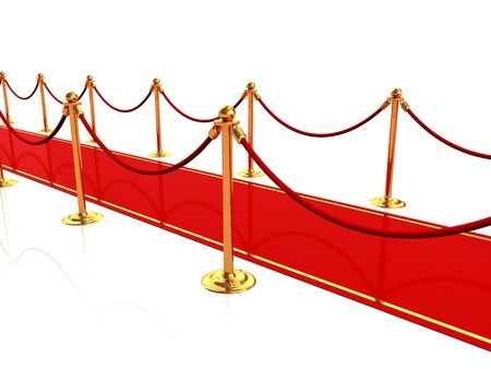3d illustration of red carpet Stock Illustration - 18013081