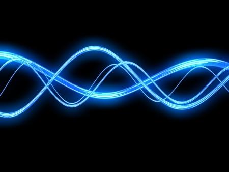 3d illustration of electric waves background Stock Illustration - 18013086