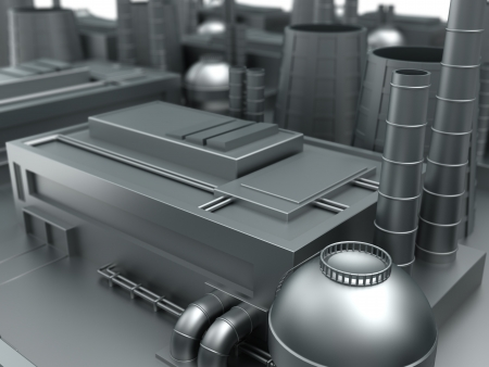 prefabricated: 3d illustration of industrial background