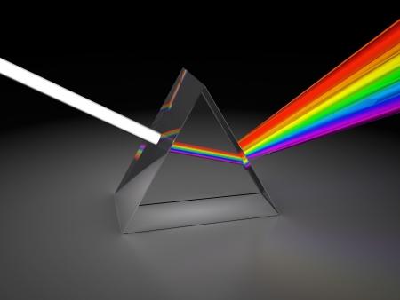prisma: Ilustraci�n 3d abstracto de luz prisma divide