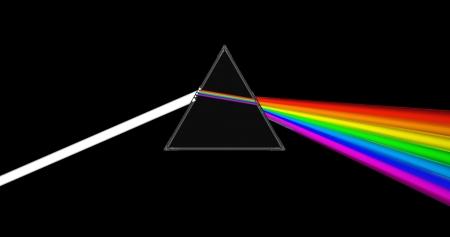 prisma: Ilustración 3d abstracto de prisma de cristal con rayos de luz