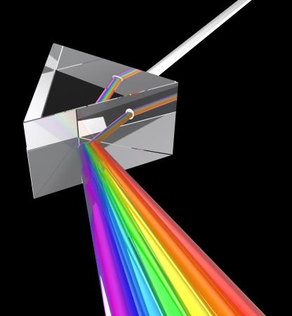 prisma: 3d ilustración de prisma con el espectro Foto de archivo
